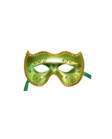 Benátska maska -zeleno-zlatá