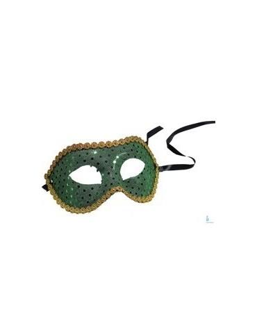 Benátska maska -zelená s flitrami