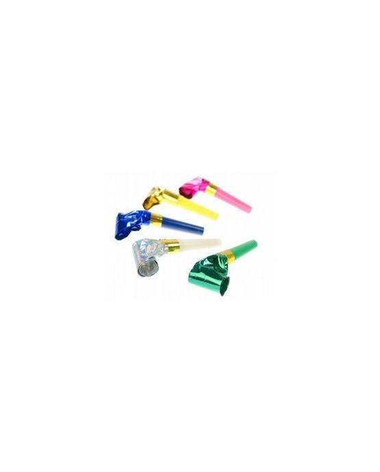 Rolovacie píšťalky mix farieb- trblietavé 10ks/P221
