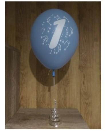 Latexové balóniky s číslicou  1 -mix farieb 36cm 10ks/P35