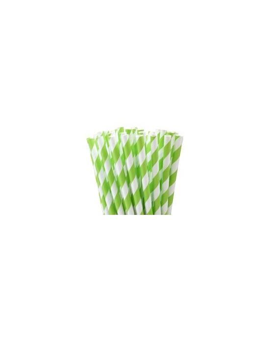 Slamky - bielo- zelené 8ks/P97