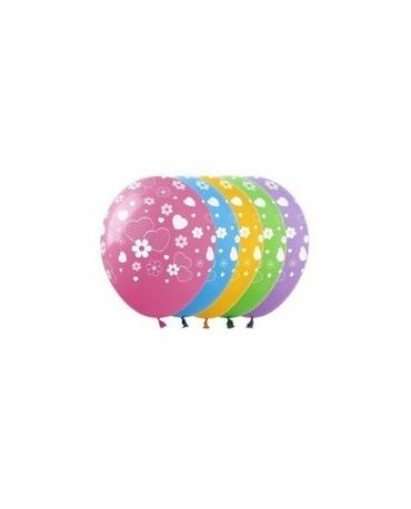 Latexové balóny srdcia a kvety 30cm 10ks