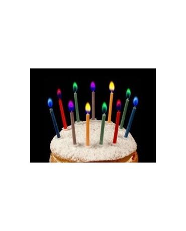 Sviečky-rôznofarebné plamene 6 ks