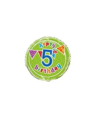 Fóliový balón Birthday- číslo 5- 47cm