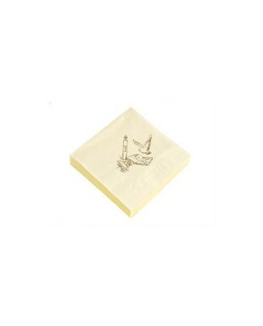 Servítky 1.sv.prijímanie - krémové 20ks/P108