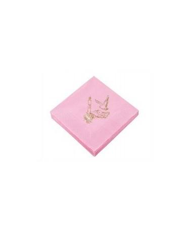 Servítky 1.sv.prijímanie - ružové 20ks/P112