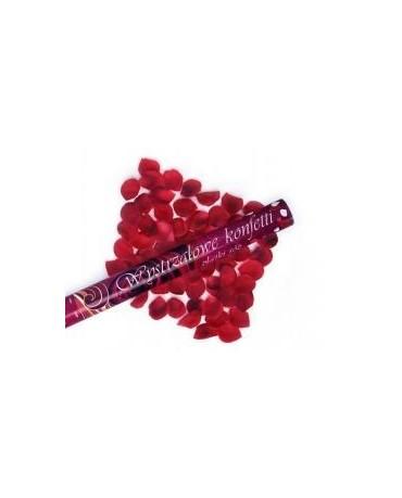 Konfety - bordové lupene ruží 60cm