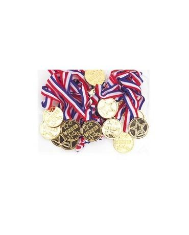 Plastové medaile 5ks