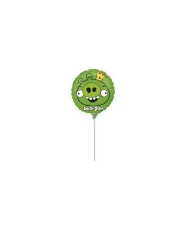 Fóliový balónik s motívom Angry Birds- zelený 23cm 1ks/P54