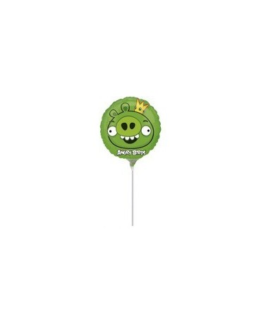 Fóliový balón Angry Birds- zelený 23cm