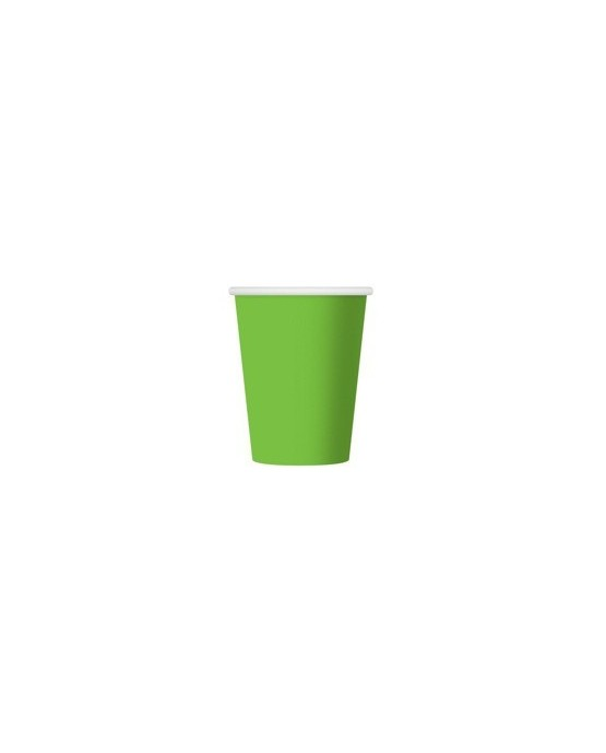 Papierové poháre - zelené 270 ml 6ks/P107
