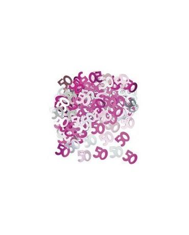 Konfety číslice 50 -ružové 14 g
