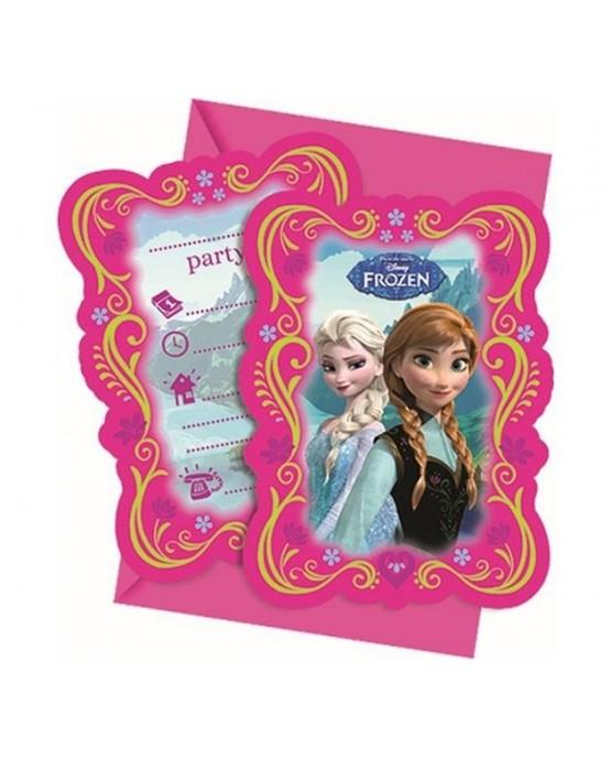 Pozvánka na narodeniny s motívom Frozen 6ks/P126