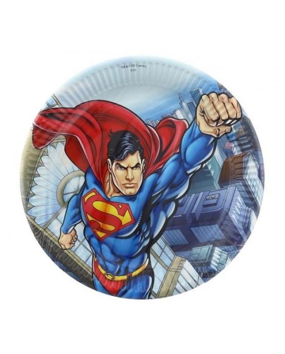 Tanieriky s motívom Superman-komiks - 23 cm - 8 ks/P228