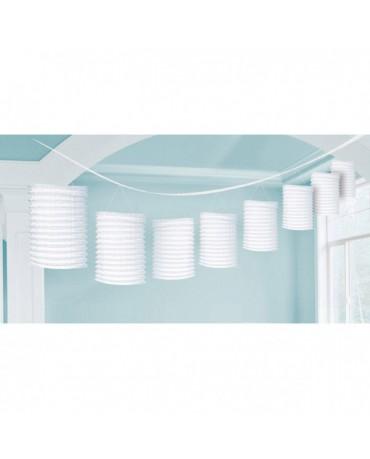 Girlanda - biele lampióny 3,65m