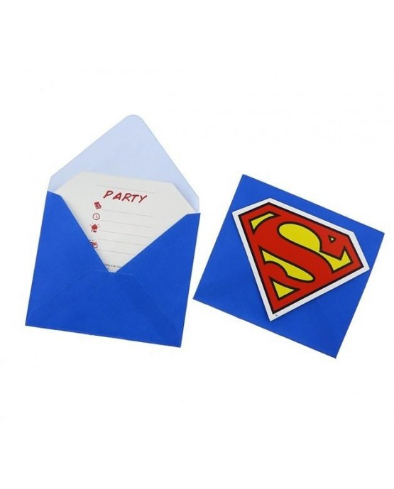 Pozvánka na narodeniny s motívom Superman 6ks