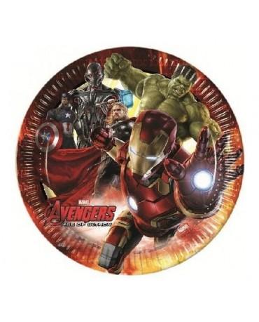 Tanieriky s motívom Avengers 2 23 cm - 8 ks/P219