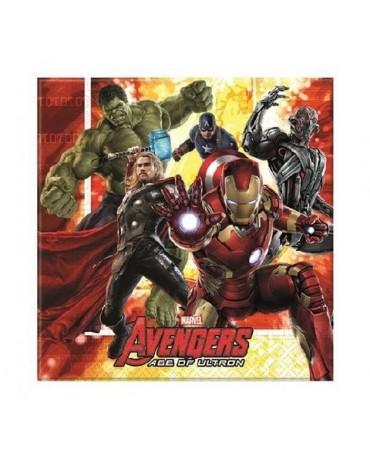 Servítky s motívom Avengers 2 33 cm - 20 ks/P219