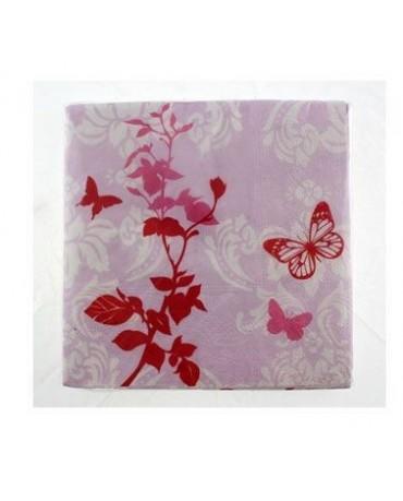 Servítky s motívom motýľov - 33cm 20ks/P211