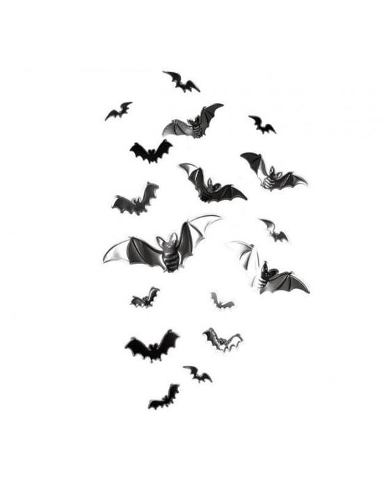 Dekorácia -nálepky netopierov 17ks/P65