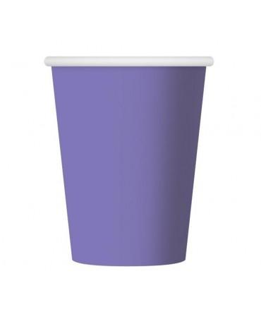 Papierové poháre - fialové 270 ml 6ks/P141