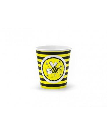Poháre Včielky 200 ml - 6 ks