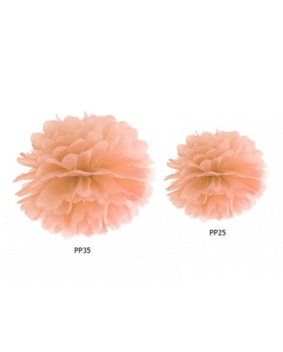 Pompón -bledooranžový 25cm
