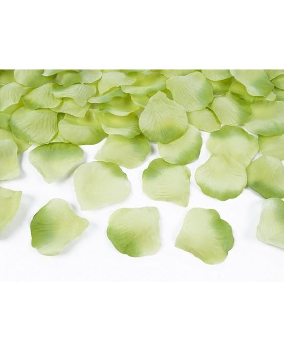 Dekorácia - Okvetné lístky ruží -zelené 100ks/P216