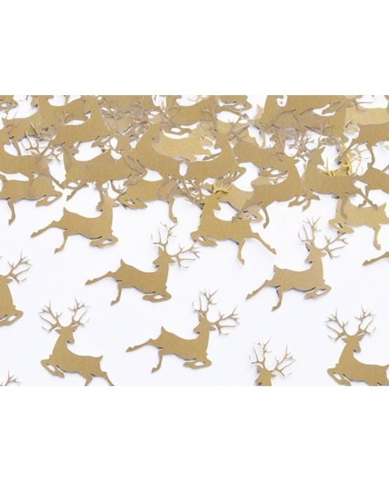 Konfety Rudolf - zlaté 2,3x3,6 cm. 20ks/P181
