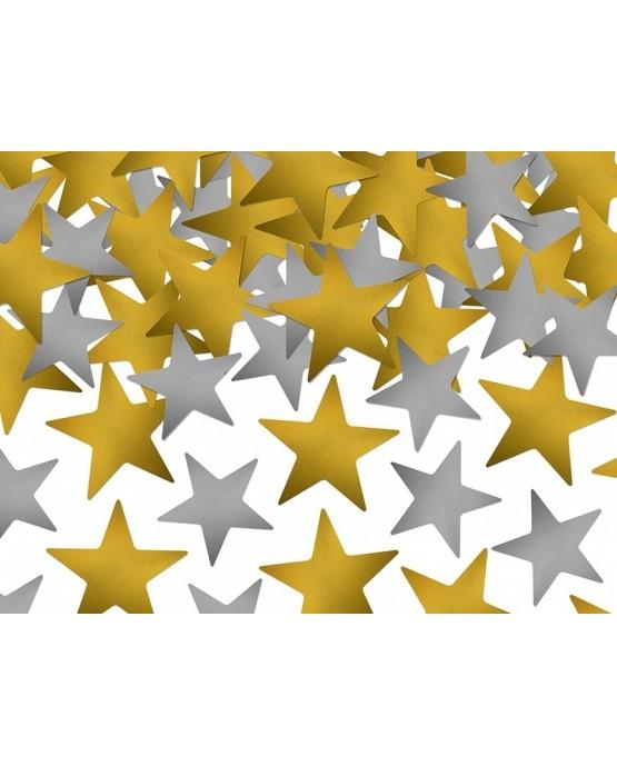 Konfety v tvare zlatých a strieborných hviezd 7g/P181