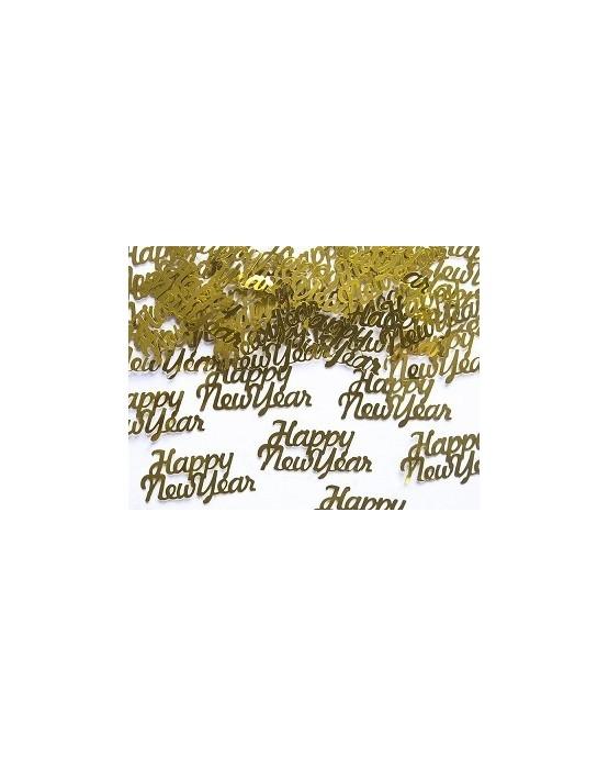 Konfety Happy New Year - zlaté 3g/P76