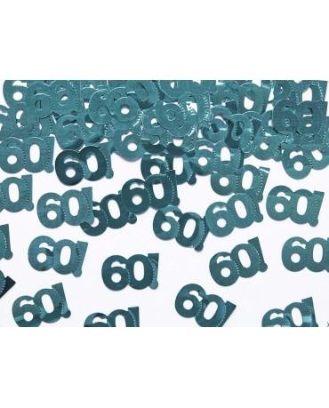 Konfety číslice 60 - modrozelené 15 g