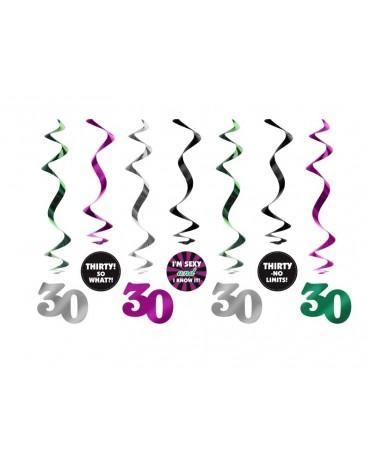 Špirály - číslice 30- 60 cm - 7 ks