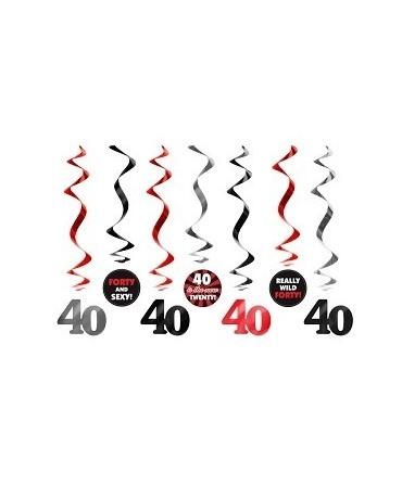 Špirály - číslice 40-60 cm - 7 ks