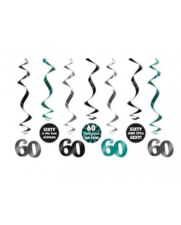 Špirály - číslice 60- 60 cm - 7 ks