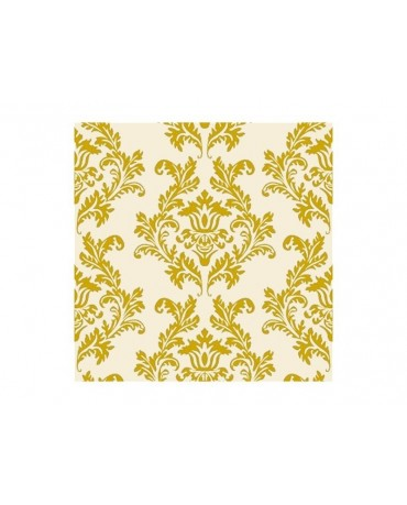 Servítky- krémové- zlatý vzor 20ks