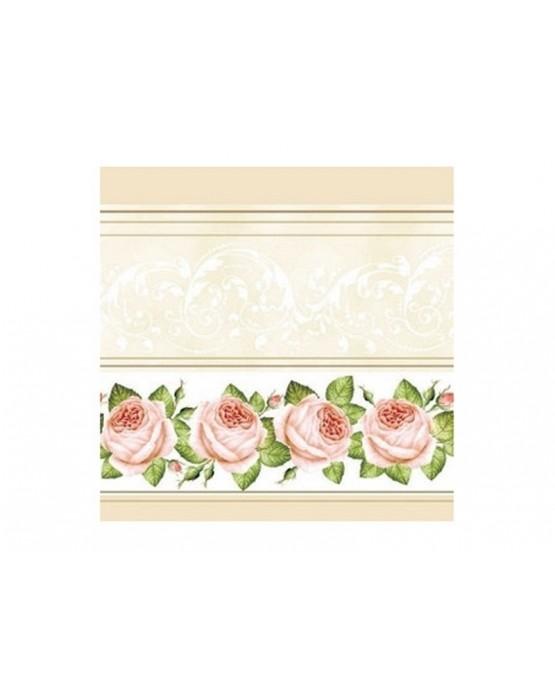 Krémové servítky ruží 33cm 20ks/P21