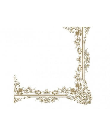 Servítky biele -zlaté ornamenty 33cm 20ks