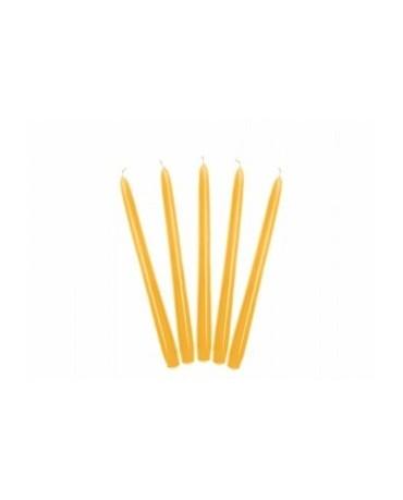 Sviečky - matné žlté 24cm 10ks