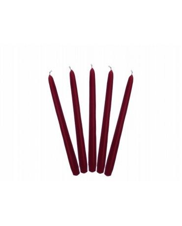 Sviečky - matné bordové 24cm 10ks