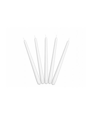 Sviečky - matné biele 24cm 10ks