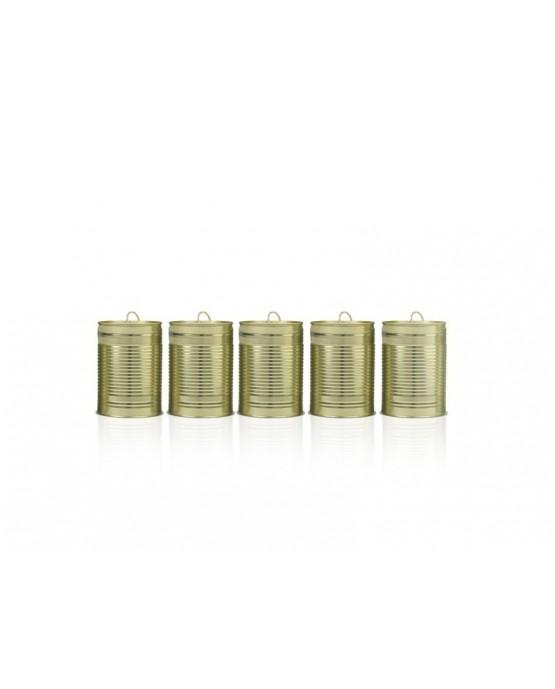 Svadobné plechovky na auto  - zlaté 5ks/P73