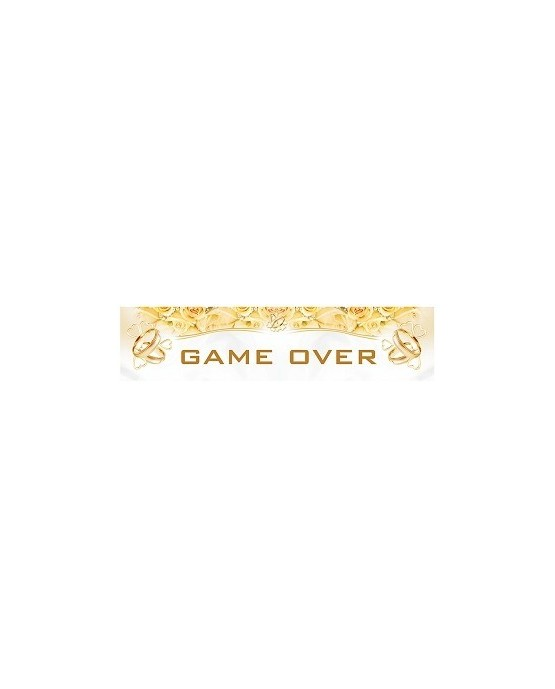 """Svadobné dosky s nápisom """"Game over"""" 10ks/P72"""