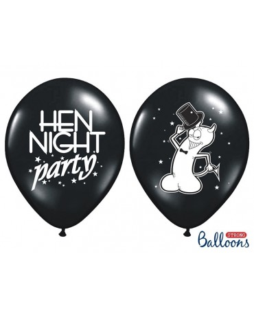 """Latexové balóny - čierne """"Willy"""" 30cm 10ks"""