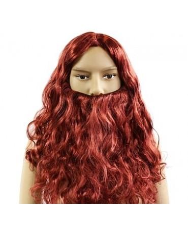 Hnedá parochňa s bradou