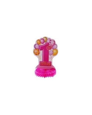 Rozeta 1. narodeniny - ružové balóniky 35cm