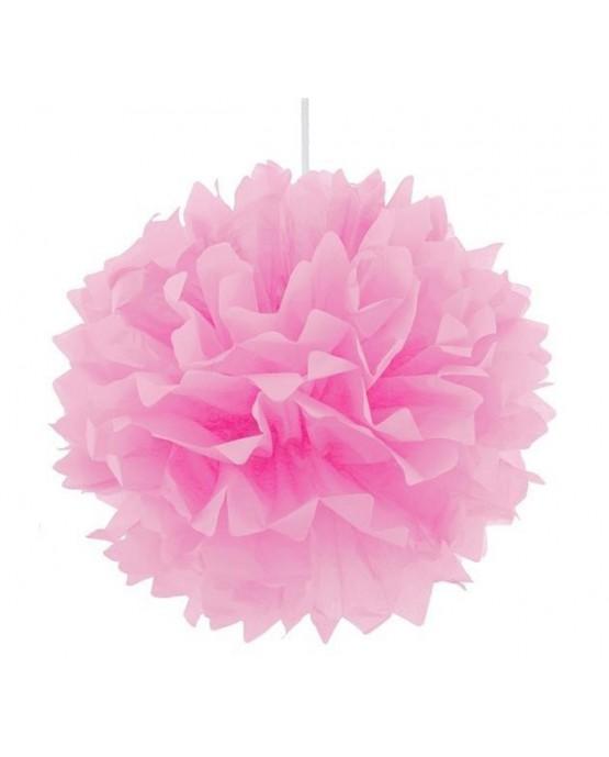 Visiaca dekorácia kvet - bledoružový 40cm 1ks/P3-5