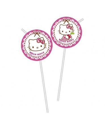 Slamky Hello Kitty - srdcia 6ks/P186
