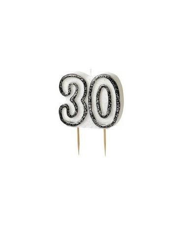 Sviečka číslo 30 -čierny okraj