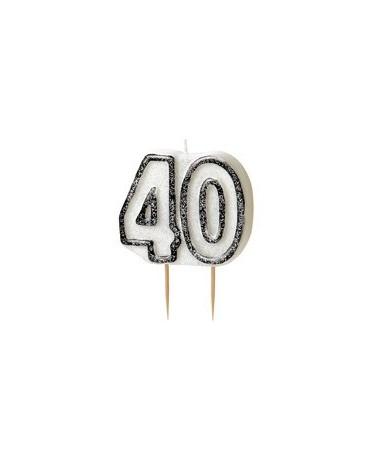 Sviečka číslo 40 -čierny okraj